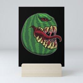 Halloween Watermelon with Fangs - Halloween Party Mini Art Print