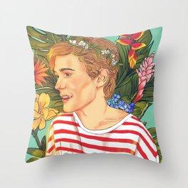 Flower Boy Isak Throw Pillow