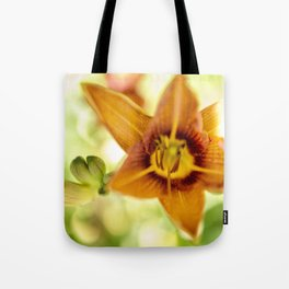Day Lily Abstract Tote Bag