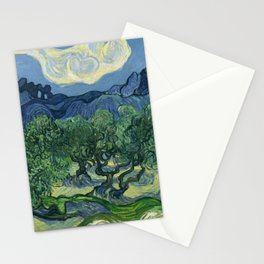 """Vincent van Gogh """"Olive Trees with the Alpilles in the Background"""" Stationery Cards"""