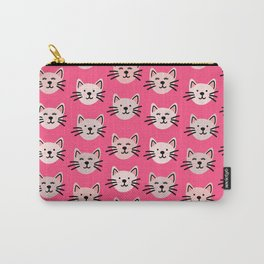 Cute cat pattern in pink Carry-All Pouch