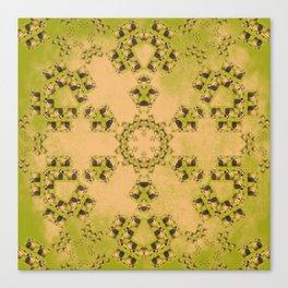 Hay Bales Mandala Canvas Print
