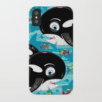 killer whale iPhone & iPod Cases featuring Killer Whale & Fish by markmurphycreative