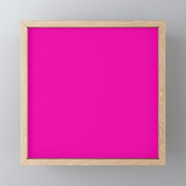 Hollywood Pink - Feminine Plain And Simple Framed Mini Art Print