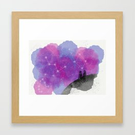 lost minds in the sky Framed Art Print