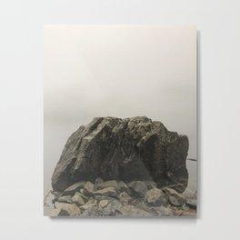 Stone portrait Lake Serene Metal Print