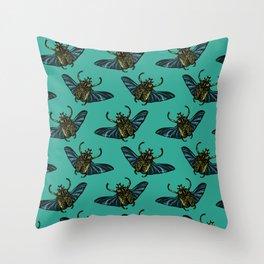 Goliath Beetle Throw Pillow