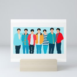 BTS BOYS Mini Art Print