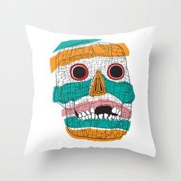 Stripy Skull  Throw Pillow