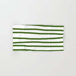 Simply Drawn Stripes in Jungle Green Hand & Bath Towel