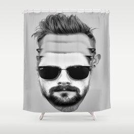 Triple Beard Shower Curtain