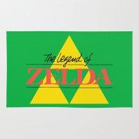 legend of zelda Area & Throw Rugs featuring The Legend of Zelda by Studio Momo╰༼ ಠ益ಠ ༽