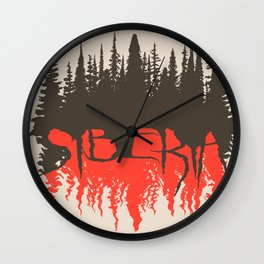 Dark Siberia Wall Clock