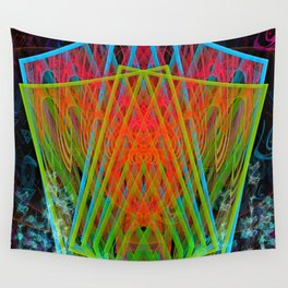 A Psychedelic Hand of Cards Wall Tapestry