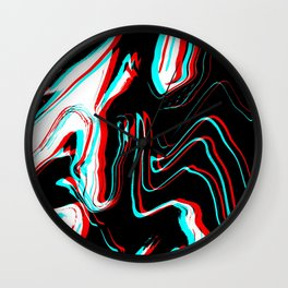 Trippy Confused Wall Clock