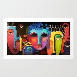 What Starts as Buddha Art Print