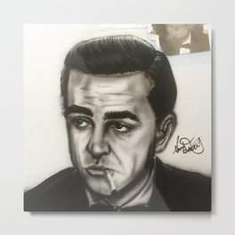 Sean Connery James Bond Portrait Metal Print