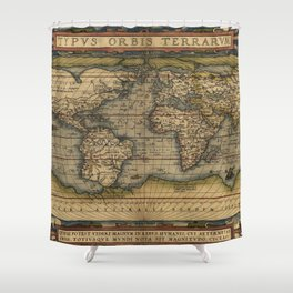 Antique Map of North and South America Shower Curtain