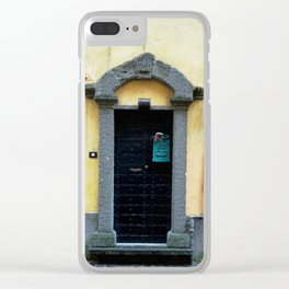 Door in Italian Village Clear iPhone Case
