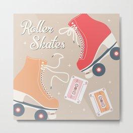 Roller skates illustration 005 Metal Print