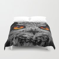 orange Duvet Covers featuring YOU'RE THE ORANGE OF MY EYES by Catspaws
