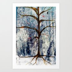 Forest Tree in Winter Art Print