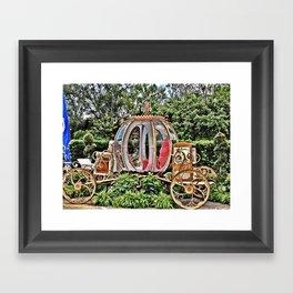 Disney World Cinderella Horse & Carriage Framed Art Print