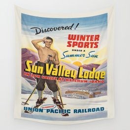 Vintage poster - Sun Valley, Idaho Wall Tapestry