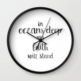 In Oceans Deep Quote Wall Clock