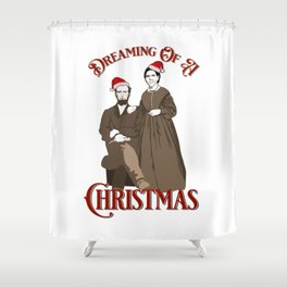 Dreaming of a White Christmas Shower Curtain