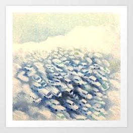Traffic clouds  Art Print