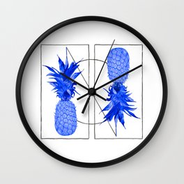 Blue Pineapples design Wall Clock