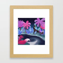 foxes in the Jungle Framed Art Print