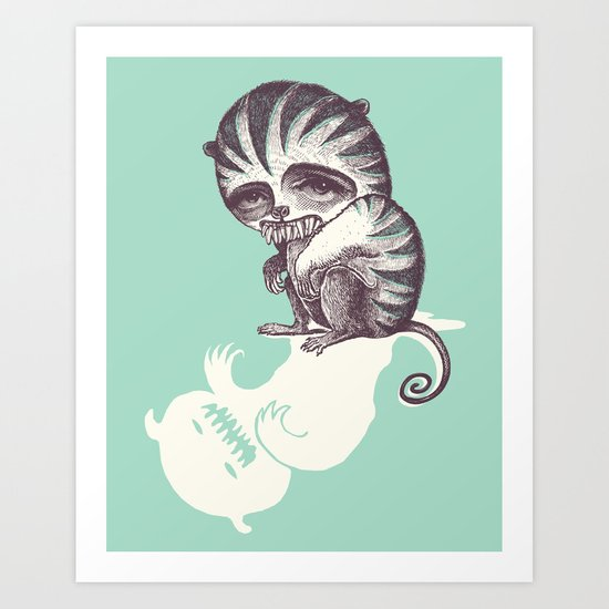 The Scared Scary Monster Print Art Print