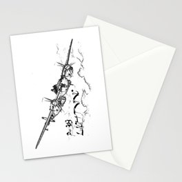P-38 Lightning line drawing Stationery Cards