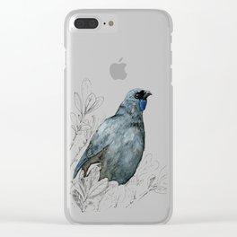 Kōkako, New Zealand native bird Clear iPhone Case