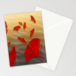 Red Ginko Stationery Cards