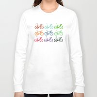 racing Long Sleeve T-shirts featuring Racing bicycle by Fabian Bross