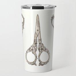 Vintage Scissors III Travel Mug