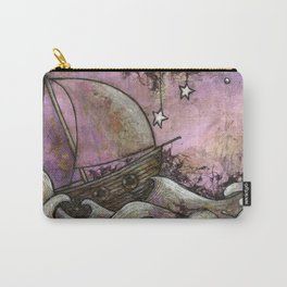 Washed Out Sailboat Carry-All Pouch
