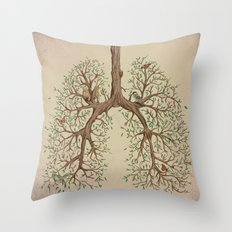 Breathe! Throw Pillow