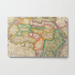 1610 Africa, Nova Africae Tabula Auctore Historical Map by Jodoco Hondio Metal Print