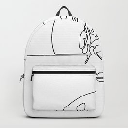 Hand Planting Tree Seedling Continuous Line Backpack