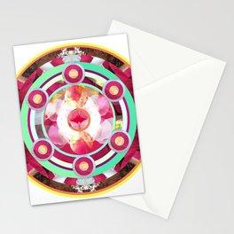 Pink and Turquoise Mandala Stationery Cards
