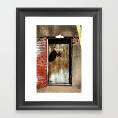Your Future is Waiting... Just Open the Door. Framed Art Print