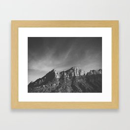 Utah Ridge-B&W Framed Art Print