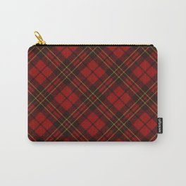 Adorable Red Christmas tartan Carry-All Pouch