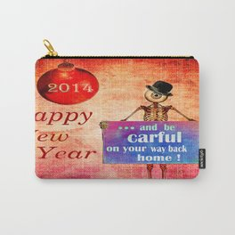 "Monsieur Bone "" Happy New Year 2014 "" Carry-All Pouch"