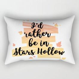 I'd rather be in Stars Hollow Rectangular Pillow