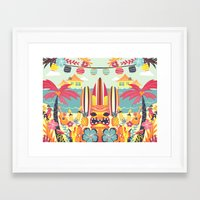 tiki Framed Art Prints featuring Tiki by Claire Lordon